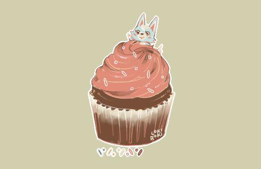 Skye + chocolate cupcake