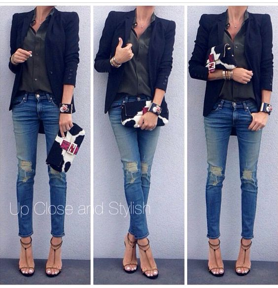 rag and bone ripped jeans outfit and bone jewelry on. Black Bedroom Furniture Sets. Home Design Ideas