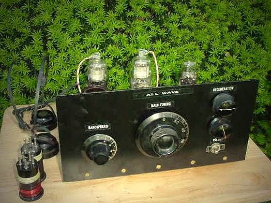 Dave S 3 Tube All Wave Receiver Homemade Tube Audio Amplifier Tube