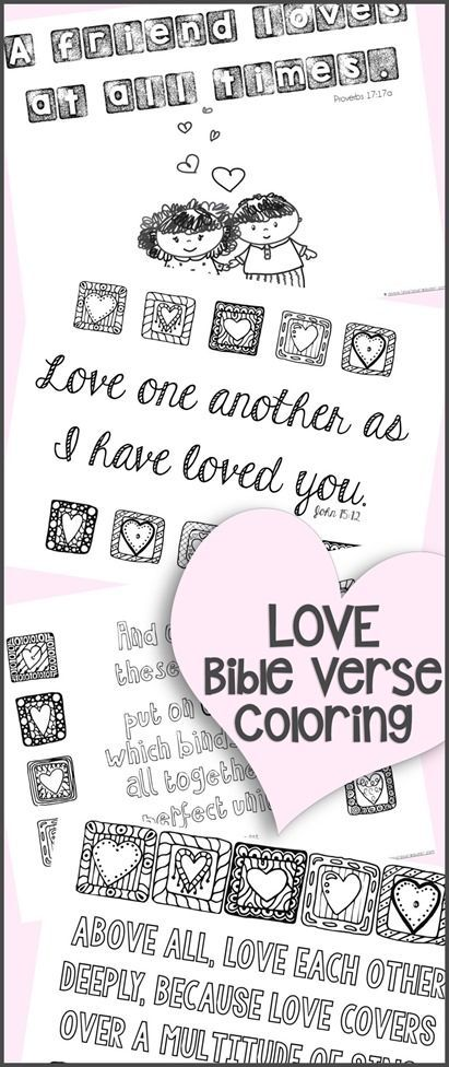coloring pages coloring and love bible verses on pinterest
