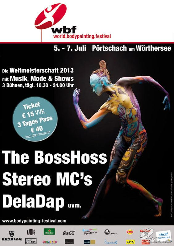 The World Bodypainting Festival 2013 in Pörtschach.  http://www.bodypainting-festival.com