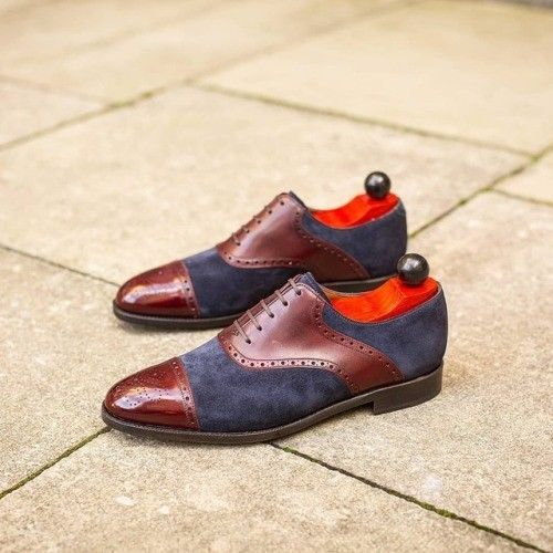 Handmade Men two toned shoes, Men