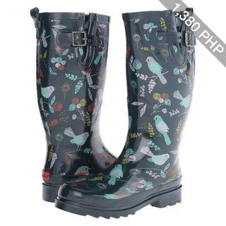 Chooka Spritely Sparrow Women's Rain Boots, Navy