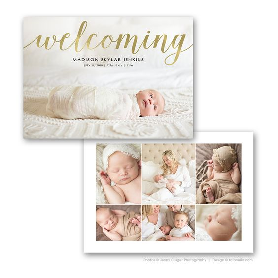 Birth Announcement Card 7X5 Photo Card Template BABY Madison – Madison Birth Announcements