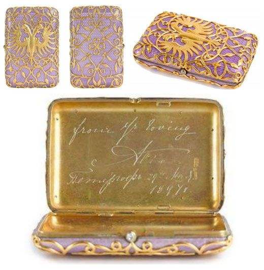 Cigarette Case owned by Nicholas II will be for sale in London | Official Web site Online magazine IMPERIAL CLUB