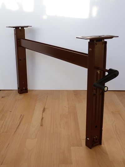 Pedestal Hardware And Adjustable Table On Pinterest
