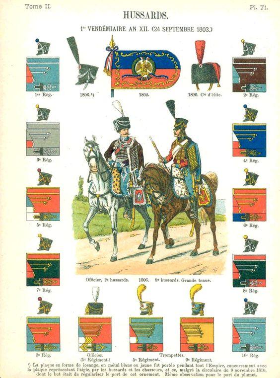 Гусары. 1802-1806 Uniformes de I'Armee Francaise 1690-1894 Lienhart & Humbert