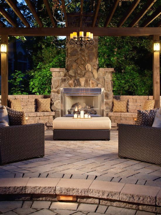 Pin By L Schmolze On Patio With Images Outdoor Fireplace