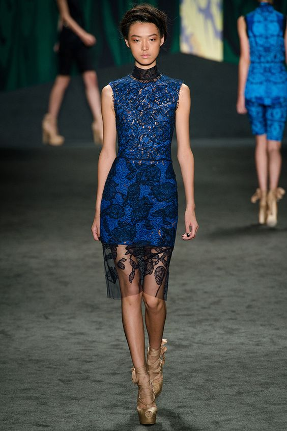 """""""Our favorite trend of lace in color."""" Vera Wang Spring 2013 RTW"""