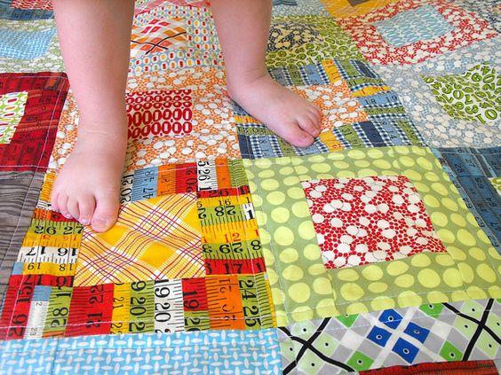 Elijah's quilt by Angela - Fussy Cut, via Flickr