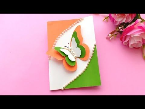 How To Make Republic Day Card Handmade Easy Card Tutorial Youtube Independence Day Card Simple Cards Card Tutorial