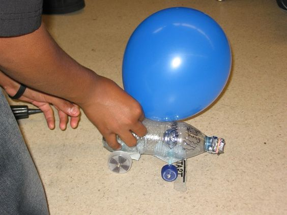 Invention Balloon Powered Car Science Project Kids