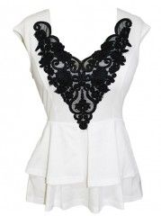 Falbala Lace Patchwork Sleeveless-t-shirt