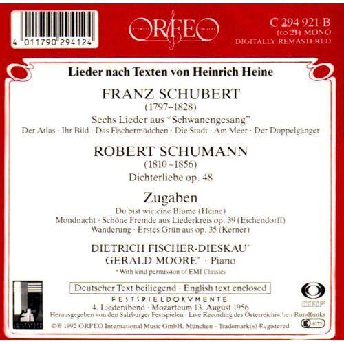 Dietrich Fischer-Dieskau - Schubert/Schumann: Schwanengesang/Dichterliebe, Pink