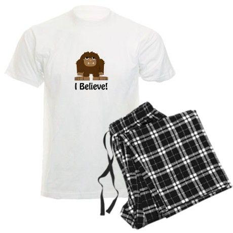 I Believe! Bigfoot Pajamas on CafePress.com