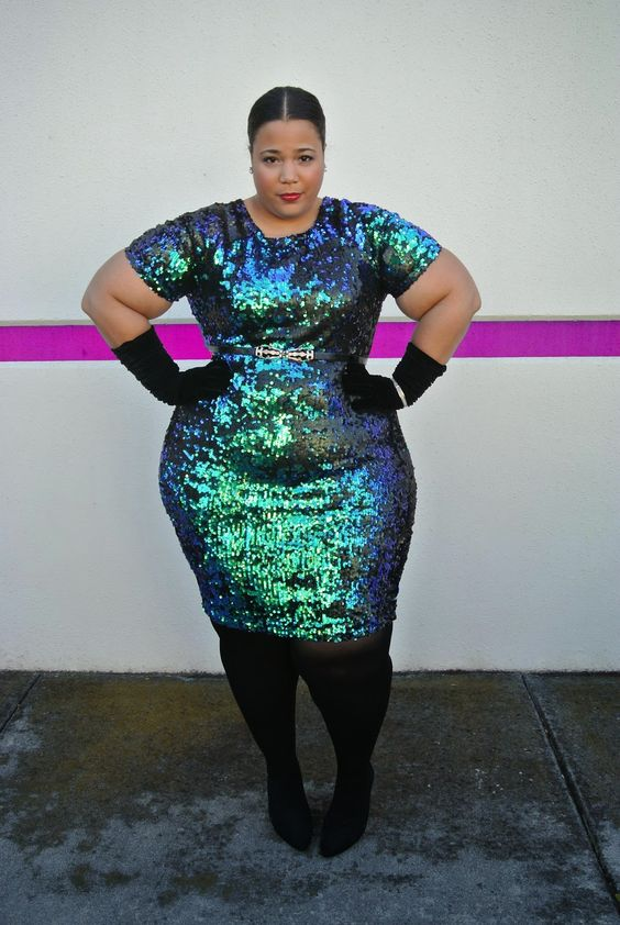 Holiday dress- plus size dress- simplybe- sequin dress ...