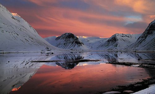 naturalsceneries:  Late Afternoon Light Show Iceland Source: Sverrir Thorolfsson (flickr)