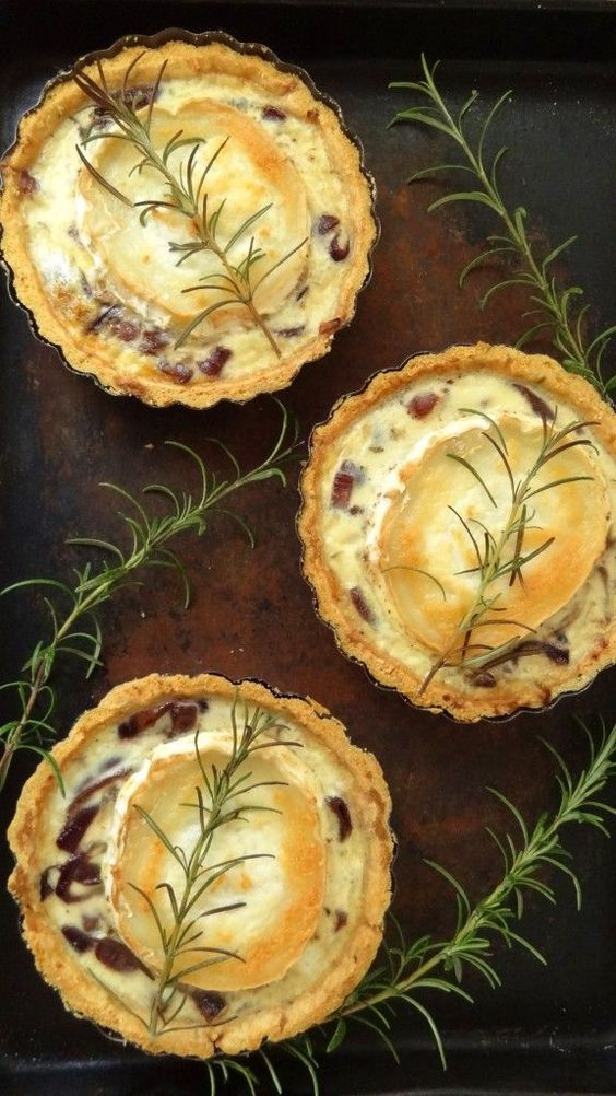 Caramelised Red Onion & Goats Cheese Tarts