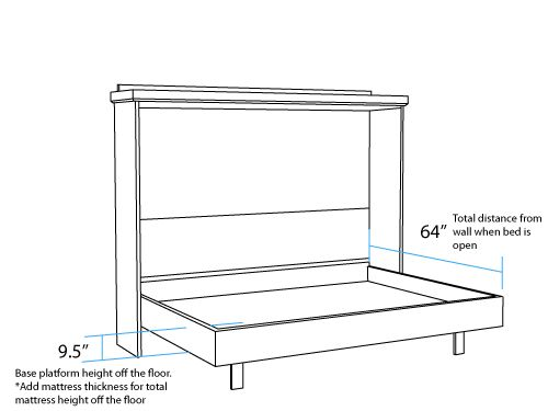 Horizontal Murphy Bed Plans 9 Queen Murphy Bed Horizontal