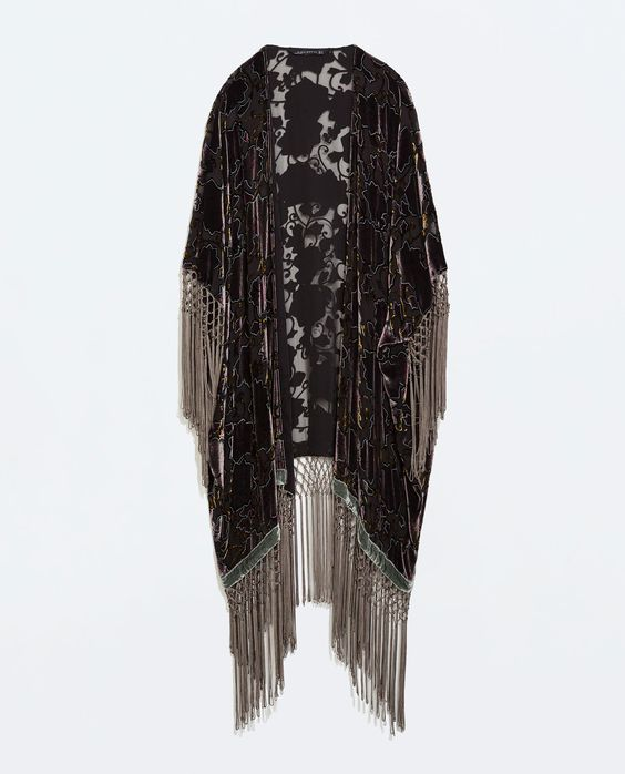 Image 7 of PRINTED KIMONO COAT from Zara