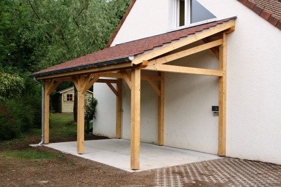 Garage 1 pente 270mx700m  Cerisier  abris de jardin en bois  ~ Bois De Cerisier