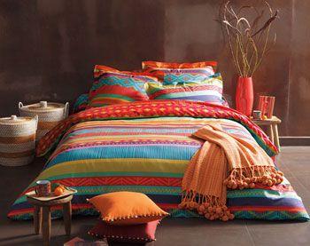 linge de lit motifs mexicains - Becquet