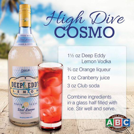 High Dive Cosmo featuring Deep Eddy Lemon Vodka