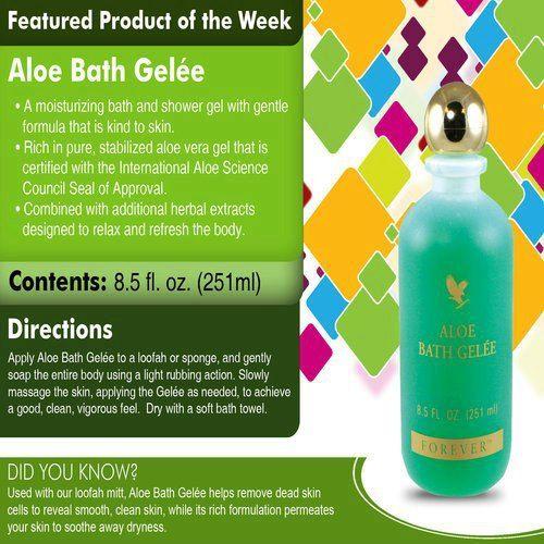 Aloe Bath Gelee Beautifully scented Gentle formula is kind ...