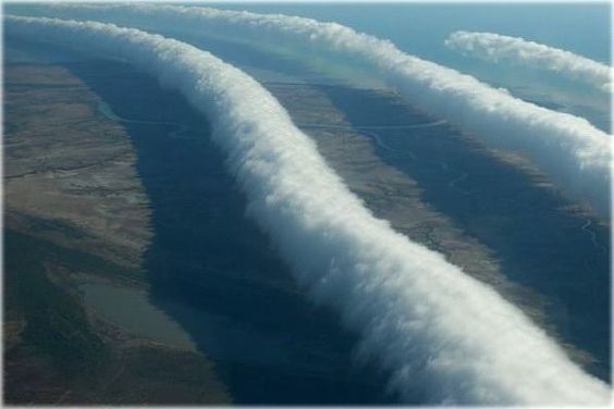 Morning Glory – kind of clouds observed in the Gulf of Carpentaria in northern Australia. But for real, look at the whole site. So many amazing pictures!