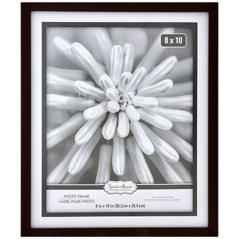 Special Moments Wall Mount Matted Brown Plastic Picture Frames