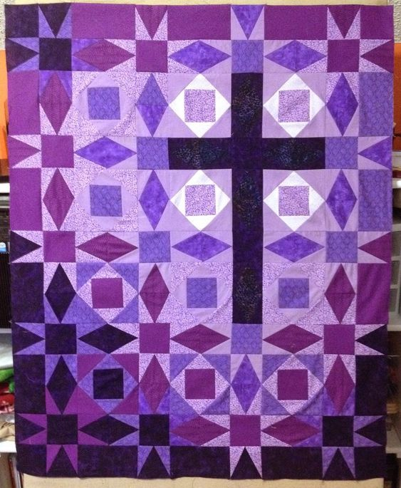 Studio Dragonfly: Purple Cross Storm at Sea Quilt