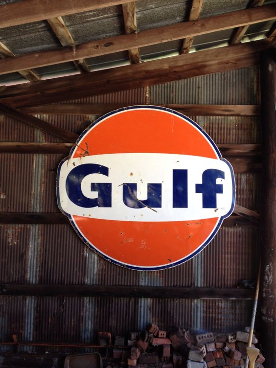 Gulf sign inside pole barn | Rustic | Pinterest | Pole ...
