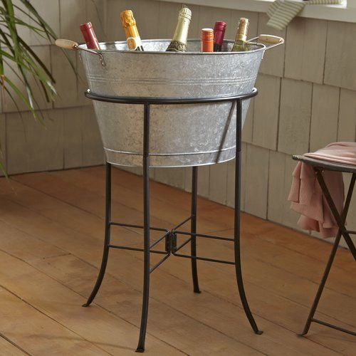 Hoyleton Beverage Tub With Stand Beverage Tub Galvanized Beverage Tub Party Tub
