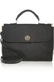 Tory Burch Robinson textured-leather satchel