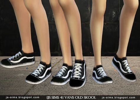 Vans Old Skool Shoes for The Sims 4 | Sims 4 kleider, Sims