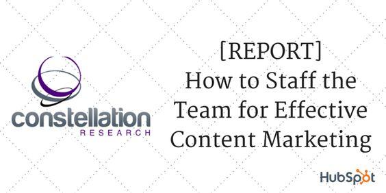 #MarketingReport on how to staff your #ContentMarketing team.