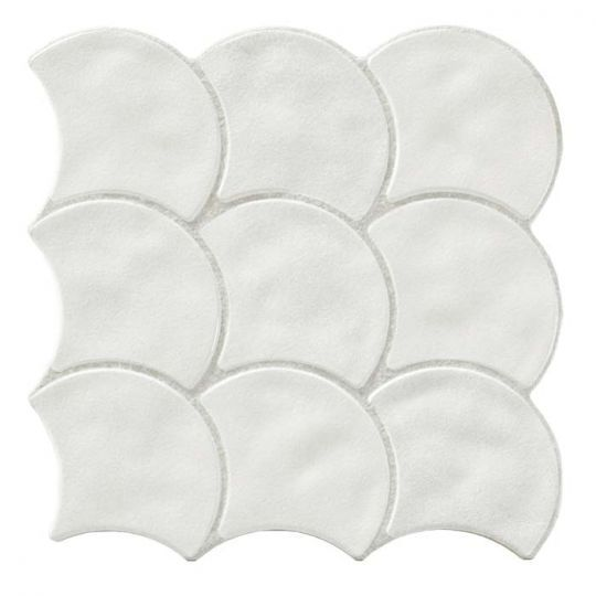 Tesoro Scale 3d White Tile In 2021 White Tiles Mosaic Tile Designs Porcelain Mosaic
