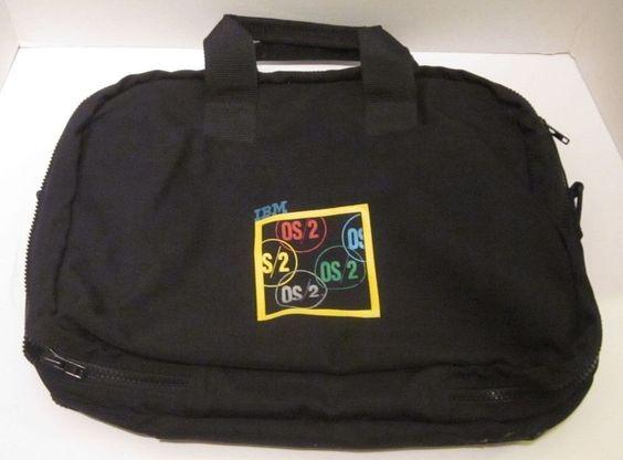 IBM OS/2 Zipper Bag Black Business Pockets Professonal Computer Operating System…