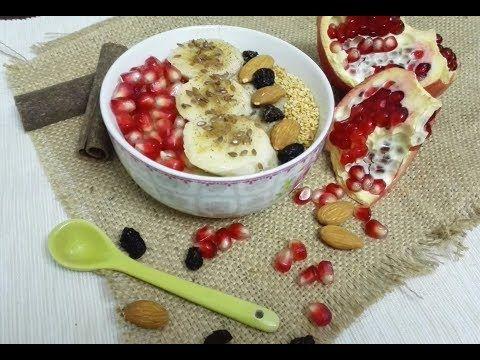 صحي و لذيذ وجبة فطور صباح صحية بالشوفان Petit Dejeuner Sain Aux Flocons D Avoines Youtube Food Oatmeal Desserts