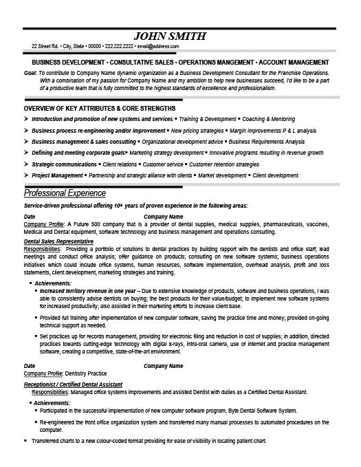 Dental Sales Representative Resume Sales Resume Resume Template Cv Template