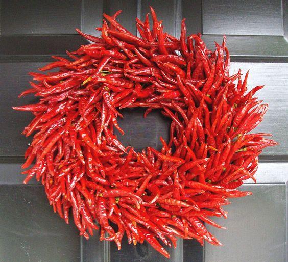 Chili Pepper Wreath