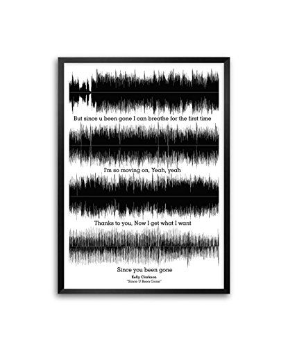Amazon Com Kelly Clarkson Since U Been Gone Lyrics Framed Poster In A3 16 5 X 11 7 Posters Prints Poster Frame Lyrics Poster Prints