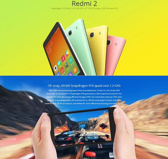 XIAOMI Redmi 2 Pro 4.7 inch Android 4.4 4G LTE Smartphone MSM8916 64bit Quad Core 1.2GHz HD OGS Screen 2GB RAM 16GB ROM  -  BLACK #phone #mobile #gadgets #CellPhones #smartphones @gadgetsone