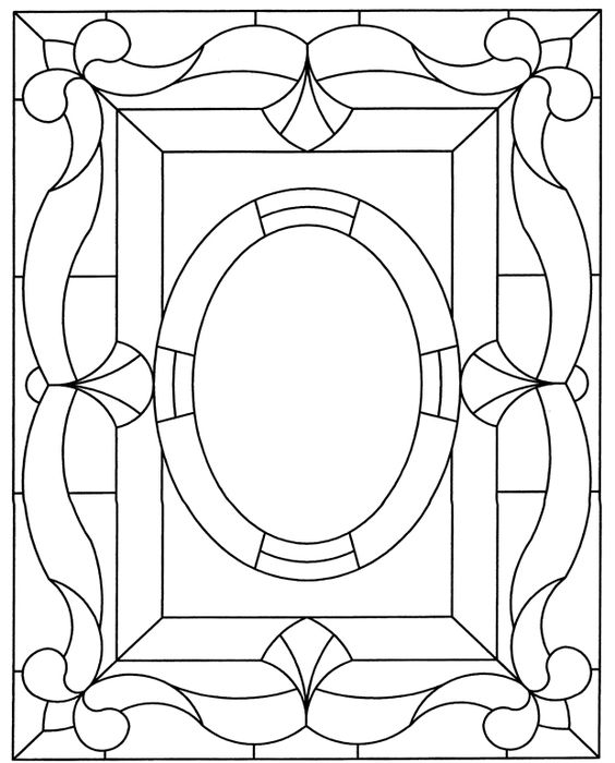 window frame coloring pages - photo#23