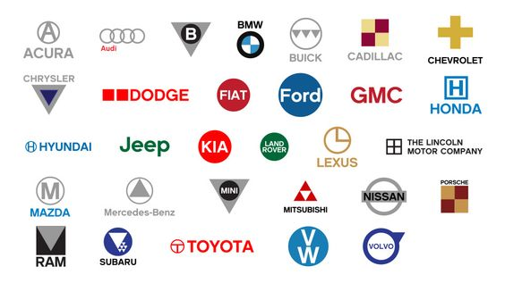 Automotive Logos Simplified Logos And Typography