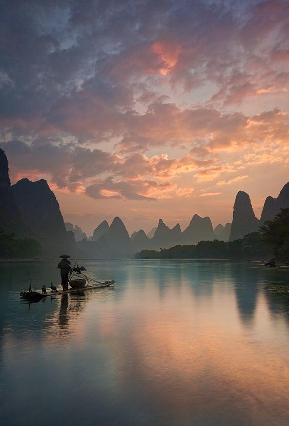 Li River Sunrise   Yan Zhang