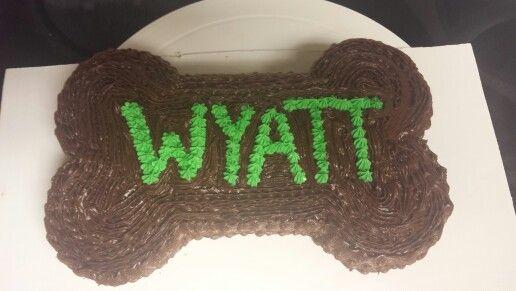 Dog bone 1st Birthday smash cake - made for my nephew!