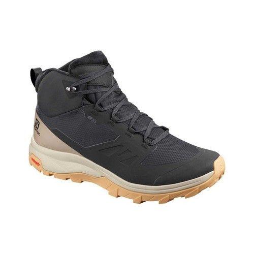 Women S Salomon Outsnap Climasalomon Waterproof Boot Black Women S Salomon Outsnap Climasalomon Waterproof Womens Waterproof Boots Boots Hiking Boots Women