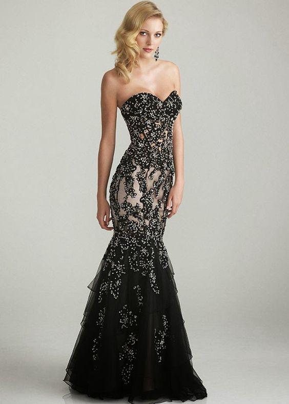 Black Wedding Host Dresses : Beautiful black wedding dresses you will love