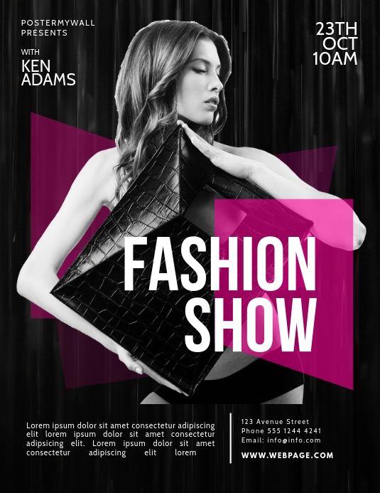 Fashion Show Flyer Template Fashion Poster Fashion Show Fashion Event